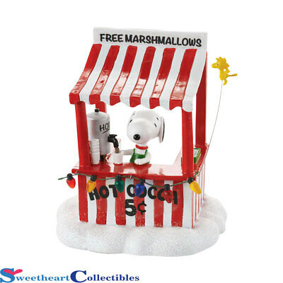 Department 56 Peanuts Village Snoopy's Cocoa Stand 4053055 New 2016