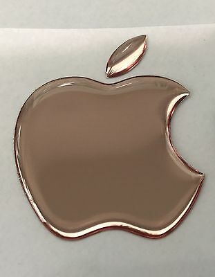 1 x 3D Domed Mirror Rose Apple logo decal/sticker Apple Accessory.Size 50x43mm