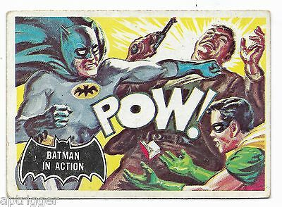1966 Topps BATMAN Black Bat (15) Batman In Action