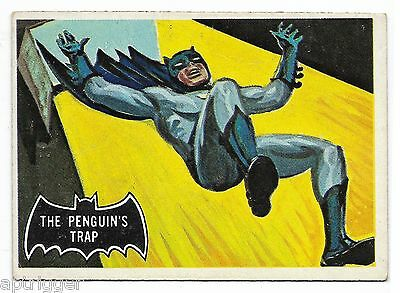 1966 Topps BATMAN Black Bat (16) The Penguin's Trap