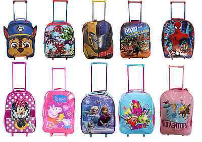 DISNEY Charcter Wheeled Trolley Bag Suitcase Hand Cabin luggage Boys Girls Kids