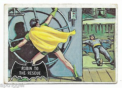 1966 Topps BATMAN Black Bat (20) Robin To The Rescue