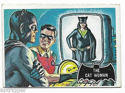 1966 Topps BATMAN Black Bat (25) The Cat Woman