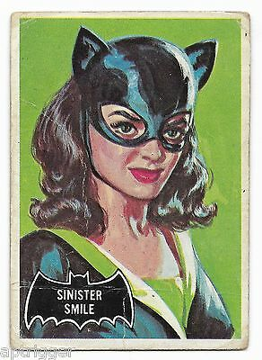 1966 Topps BATMAN Black Bat (27) Sinister Smile