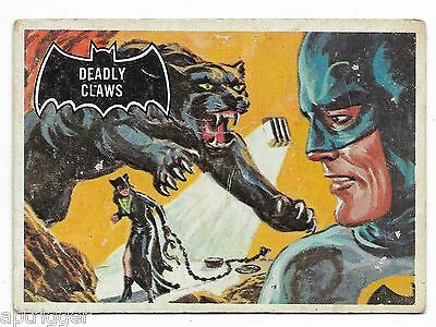 1966 Topps BATMAN Black Bat (34) Deadly Claws