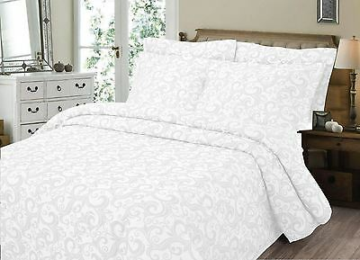Scroll Luxury Quilted Bedspread Throw Luxury Cotton Blend Bedding Bed Blanket
