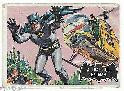 1966 Topps BATMAN Black Bat (37) A Trap For Batman