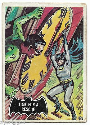 1966 Topps BATMAN Black Bat (41) Time For A Rescue