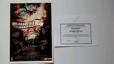 Slipknot Subliminal Verses repro A4 size signed poster