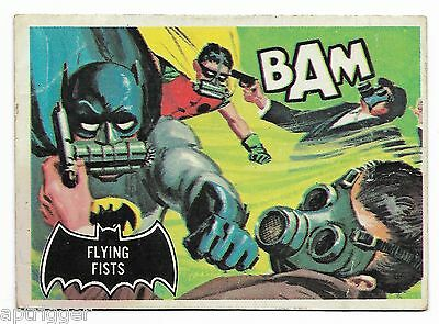 1966 Topps BATMAN Black Bat (44) Flying Fists