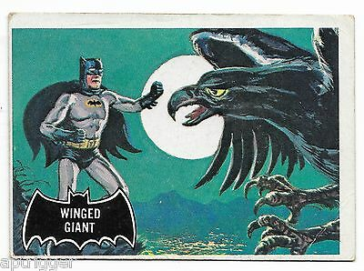 1966 Topps BATMAN Black Bat (52) Winged Giant