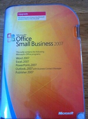 Genuine Microsoft Office 2007 Small Business Edition Upgrade New