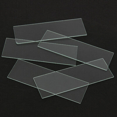 10pcs New Single Concave Microscope Glass Slides Reusable Laboratory Blank 1mm