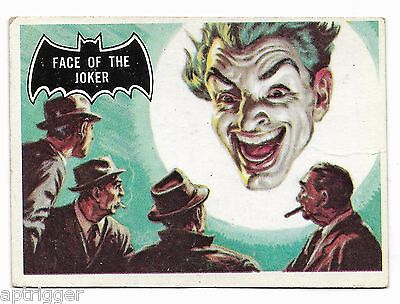 1966 Topps BATMAN Black Bat (9) Face Of The Joker