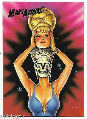 1994 Topps Mars Attacks Base Card (#76) John Pound's Flip Cover 5