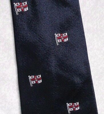 RNLI TIE VINTAGE RETRO ROYAL NATIONAL LIFEBOAT INSTITUTION NAVY 1970s 1980s