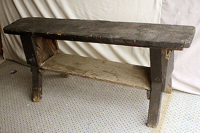 Antique Vintage Wood Wooden Distressed Primitive Style Rustic Saw Horse Bench