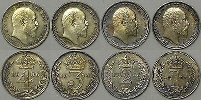1906 Edward VII Solid Silver Maundy Set Boxed in top condition