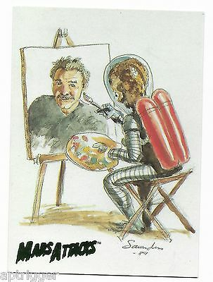 1994 Topps Mars Attacks Base Card (#99) Norm Saunders Self-Portrait