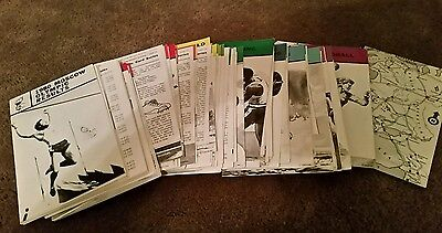 Bulk lot 1980 Moscow Olympic Result Cards Collectable Memoribilia