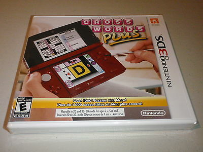 Cross Words Plus Nintendo 3DS Game Complete Brand New