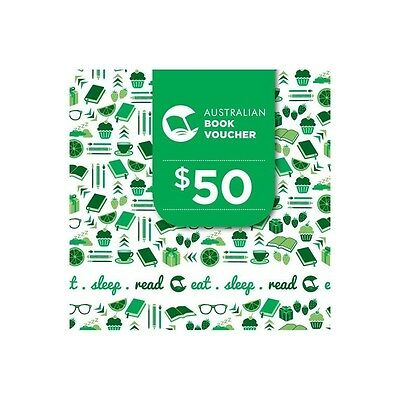 $50 Australian Book Voucher GIFT CARD - Accepted at over 600 bookshops - Xmas
