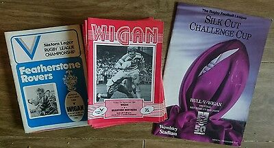 Wigan Rugby League Match Programmes 1984-85 Season Including Challenge Cup Final
