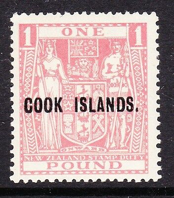 COOK ISLANDS 1943-54 £1 PINK INVERTED WATERMARK SG 134w MNH.