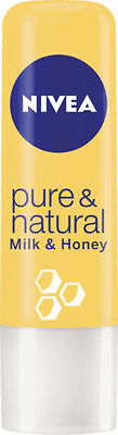 Nivea Pure & Natural Milk And Honey Pampers Lips With Rich Care Balm  4.8G