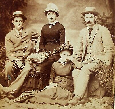 Cabinet Photo 2 Lovely Young Couples Wearing Hats Nicely Dressed Belleville Ill