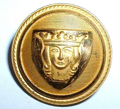 Rare Vintage Swedish Royal King Livery Button by Sporrong Stockholm - A100