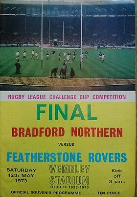 Bradford V Featherstone Rovers Rugby League Challenge Cup Final Programme 1973