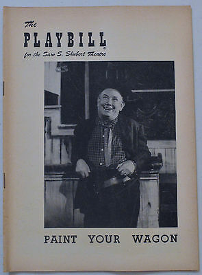 PAINT YOUR WAGON 1952 Theatre Playbill - EDDIE DOWLING