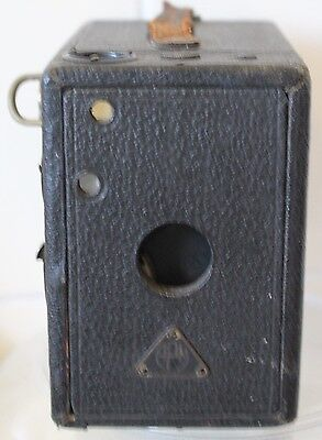 VINTAGE 1920s APM BOX CAMERA -120 FILM TAKES 2 1/4 x 3 1/4 IMAGES