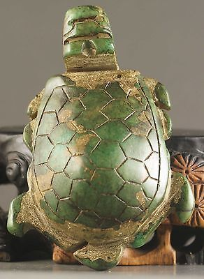 China old natural jade hand-carved statue tortoise very fine NO.W1094