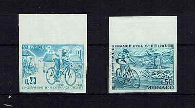 Stamps Thematic Cycling-Monaco 1963 Tour De France Imperforate Proofs In Blue