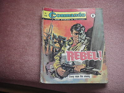 Commando Comic No. 410 Guaranteed Original Vintage Rebel