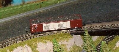 SNCF   SGW bogie open goods wagon with full load    by ROCO       N Gauge   (3)