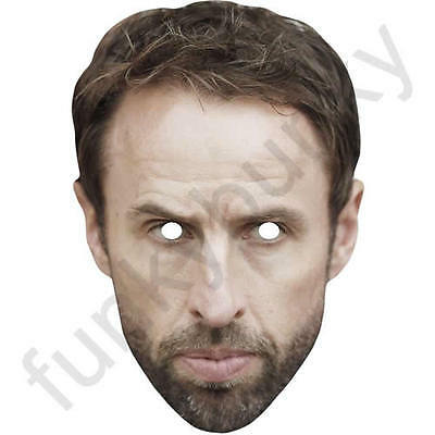 Gareth Southgate Celebrity Card Football Manager Mask - All Masks Are Pre-Cut