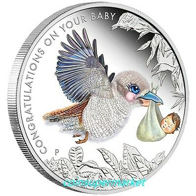 2017 Australia The Newborn Baby 1/2oz Silver Proof 50 Cents Coin Colorized Gift!