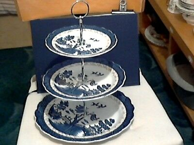 """Booths """" Real Old Willow """" Three Tier Cake Stand - 1St Quality -  England"""