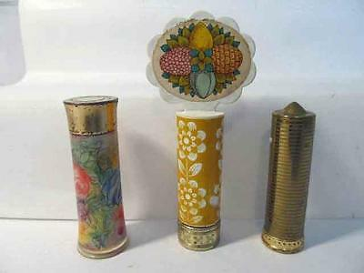 Vintage Lot (3) AVON Lipstick Tube Holder Vanity Perfect for New Collector