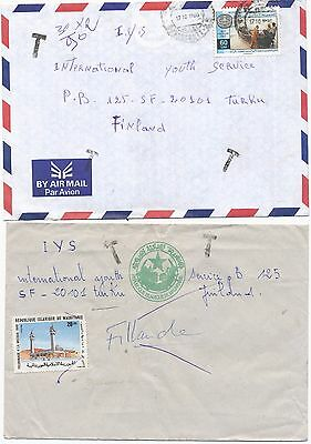 Mauritania 1998 & undated postage due 2 cover to Finland