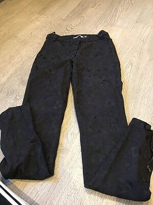 New Look Black Patterned Skinny Pants Size 8