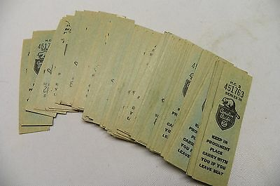 antique lot of CPR CANADIAN PACIFIC RAILWAY TICKETS series 26 beaver