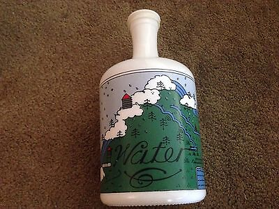 """Lillian  Vernon  Vintage  Country  Decor  Glass Water   Bottle  - 10""""  Tall"""