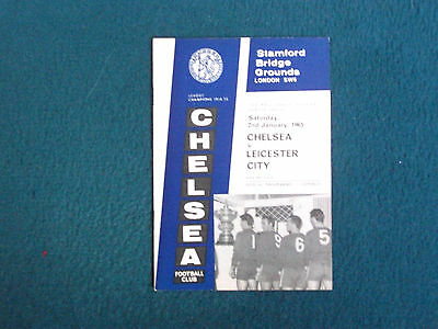 Chelsea V Leicester City Football Programme1965