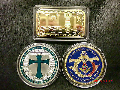 Knights Templar / Masonic Limited Edition 3 coin and ingot collection.