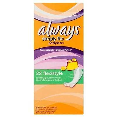 ** 44 X Always Flexistyle Simply Fits Pantyliners  New **