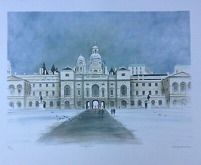 """ALBANY WISEMAN b1930 Limited Edition Lithograph """"Horseguards"""" Curwen"""